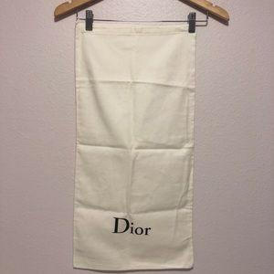 Dior cotton dust bag